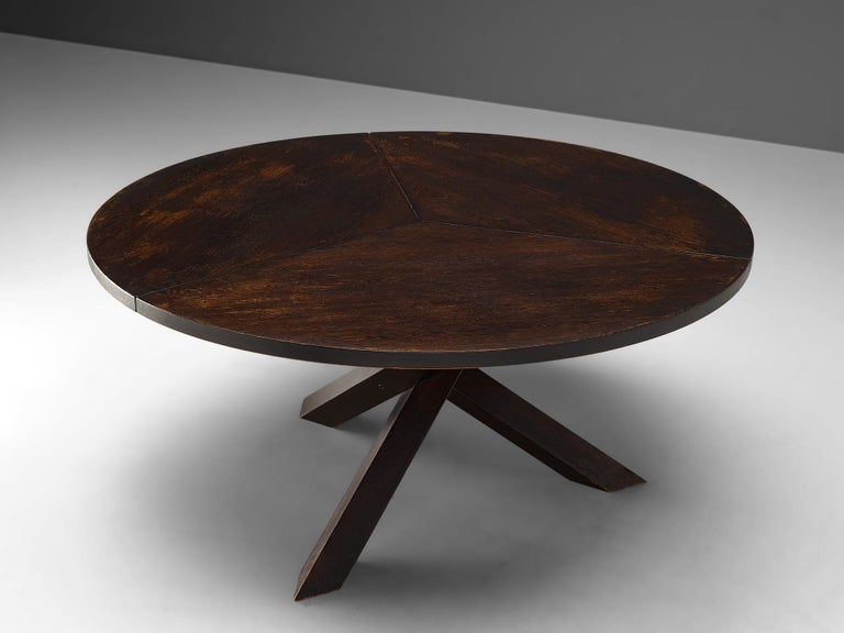 Mid-Century Modern Martin Visser, Dining Table in Wengé, the Netherlands, 1960s For Sale