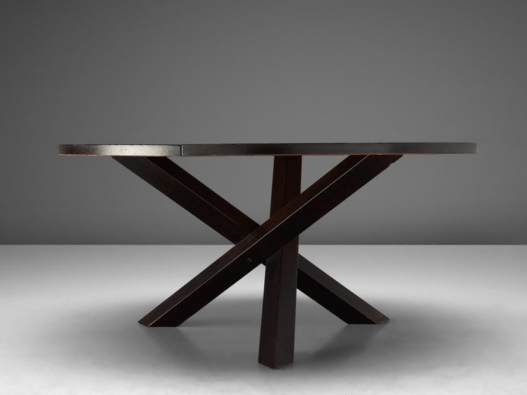 Martin Visser, Dining Table in Wengé, the Netherlands, 1960s In Good Condition For Sale In Waalwijk, NL