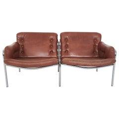 """Martin Visser for 't Spectrum """"Osaka"""" Two-Seater Sofa, the Netherlands 1969"""