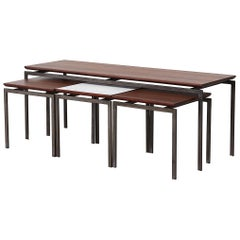 Martin Visser Inspired Teak and Formica Nesting Table Set