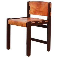Martin Visser Leather and Wenge Dining Chair