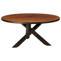 Martin Visser Round Dining Table in Wengé