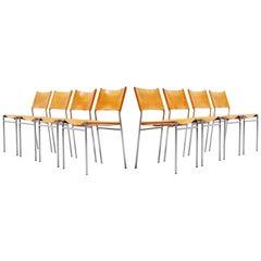 Martin Visser SE06 Dining Chairs Set 8 't Spectrum 1967