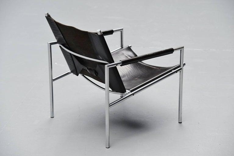 Martin Visser SZ01 Easy Chairs Black 't Spectrum, 1965 For Sale 1