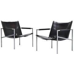 Martin Visser SZ01 Easy Chairs Black 't Spectrum, 1965