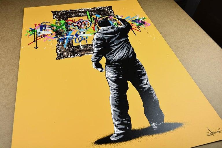 MARTIN WHATSON: Framed - Hand painted screen print on paper Street art, Graffiti 2