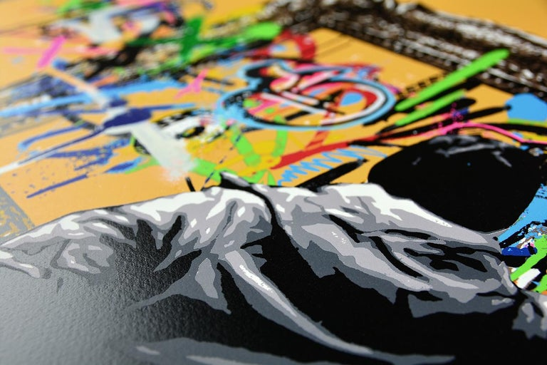 MARTIN WHATSON: Framed - Hand painted screen print on paper Street art, Graffiti 3