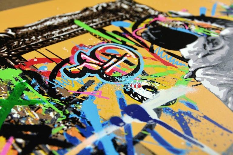 MARTIN WHATSON: Framed - Hand painted screen print on paper Street art, Graffiti 4