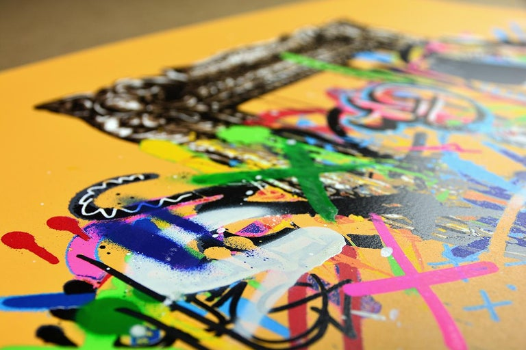 MARTIN WHATSON: Framed - Hand painted screen print on paper Street art, Graffiti 5