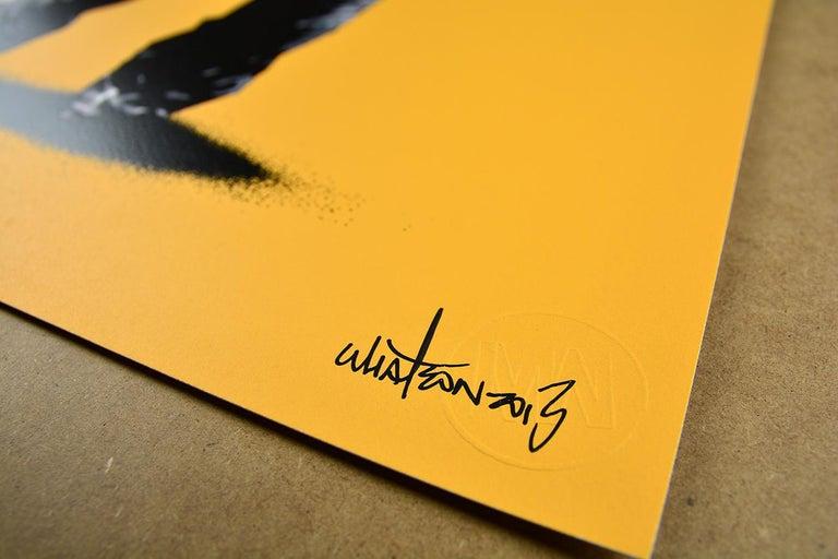 MARTIN WHATSON: Framed - Hand painted screen print on paper Street art, Graffiti 6