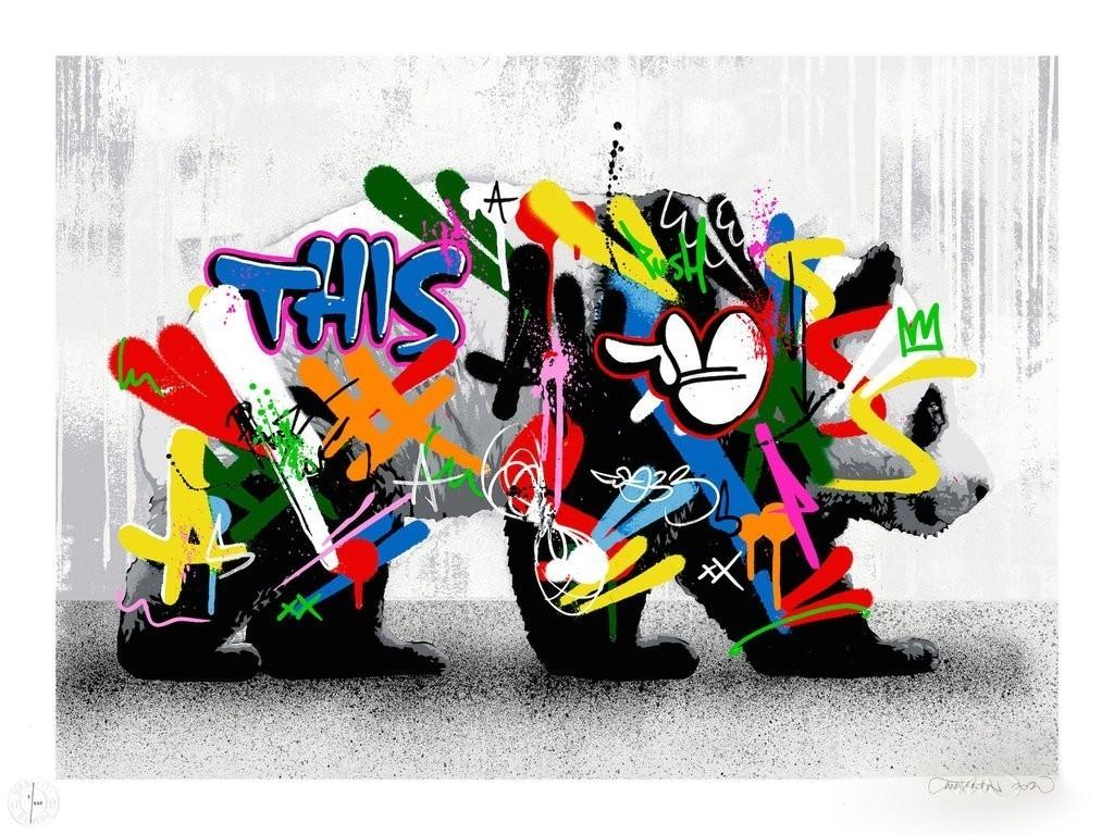 Martin Whatson - Panda - Urban Graffiti Street Art Screen Print
