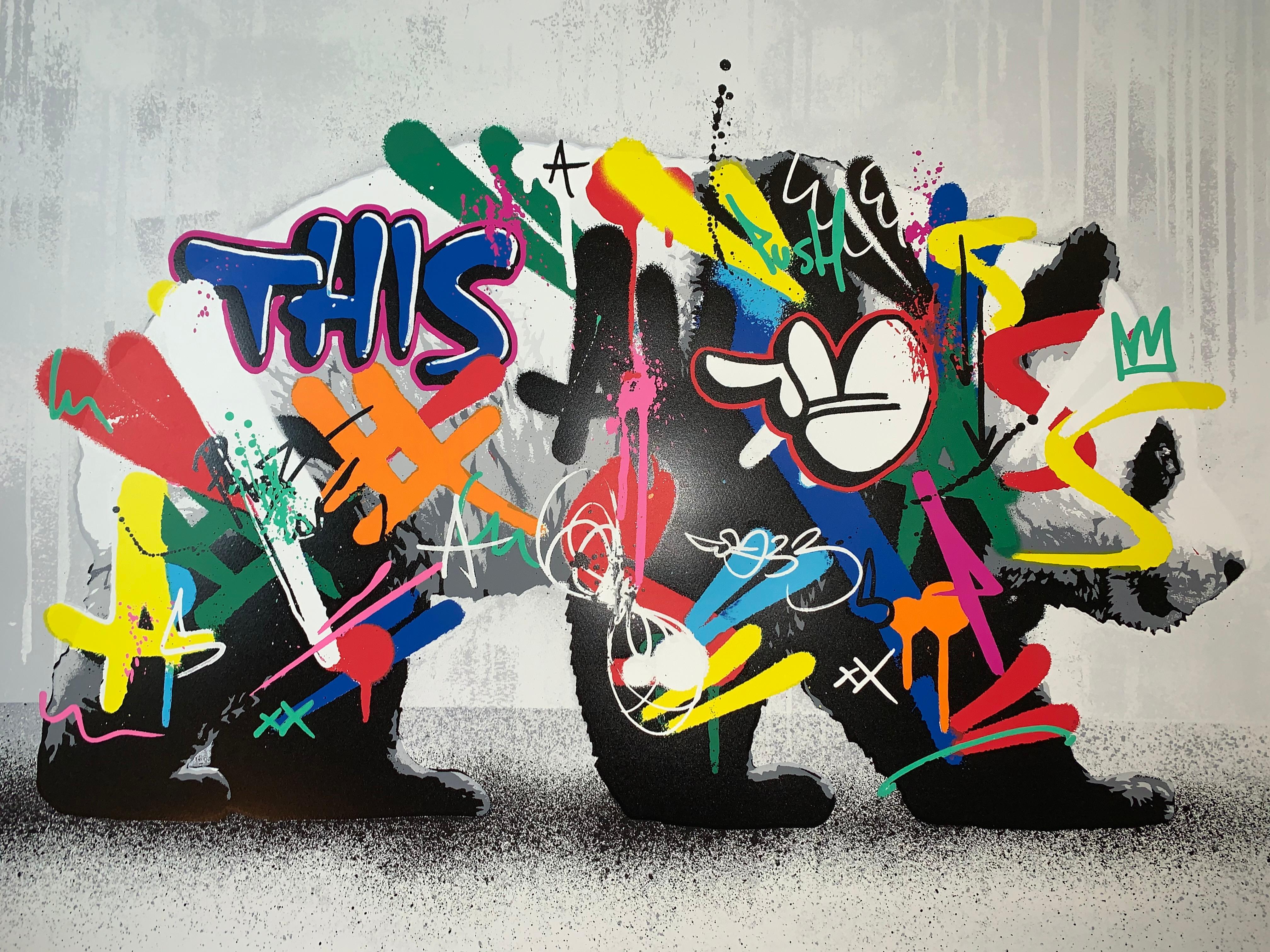 Panda Martin Whatson Main Edition Animal Print Graffiti
