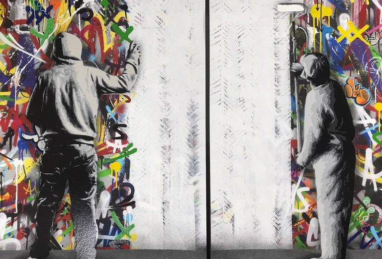 The Cycle Diptych  By Martin Whatson  2 Giclee & Hand Finished Screen Art Prints  60X60 cm (23.622 X 23.622 inches) x2 prints  Numbered Edition Of 195  Signed by the artist  Set of 2 art prints  Comes with Certificate of Authenticity (COA)  2 PRINTS