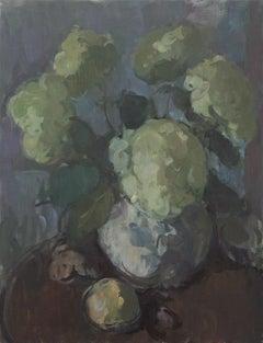 Annabelles in a Jug (Hydrangea arborescens), Martin Yeoman. Still life, flowers