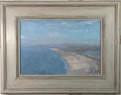 Chesil Beach, Martin Yeoman. landscape oil painting, seascape
