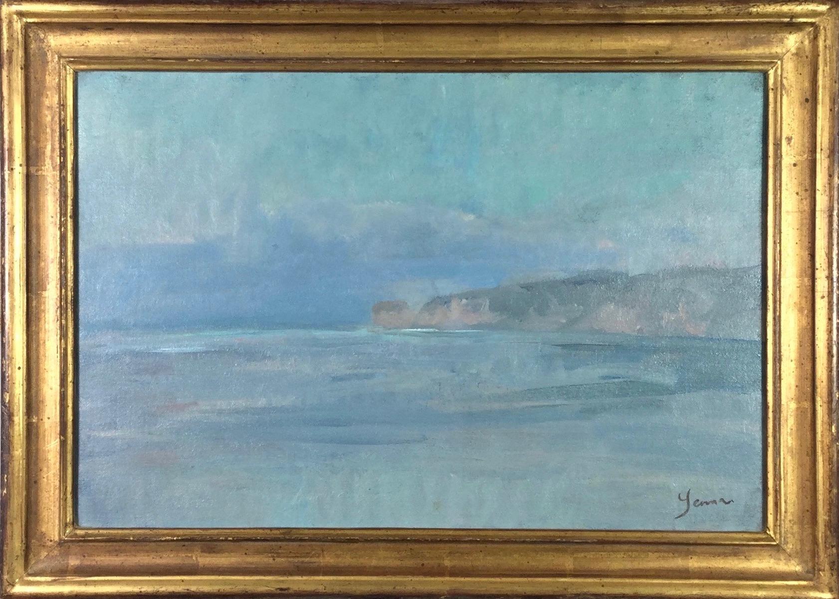 Studland Dusk, 2008, Martin Yeoman. seascape oil painting