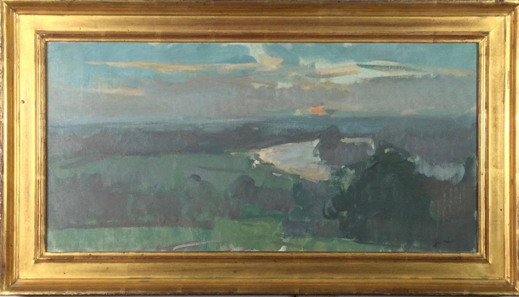View over the River Thames from Richmond Hill 2003, Martin Yeoman. oil painting