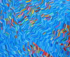 """Martina Nehrling """"Afloat"""" -- Colorful Abstract Painting on Canvas"""