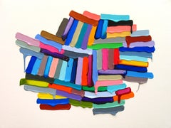 """Martina Nehrling """"Tuber"""" -- Colorful Abstract Painting on Paper"""