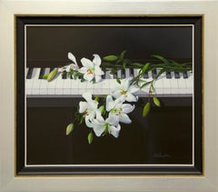 White Lily on a Piano