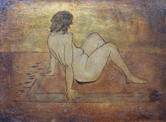 Nude. Contemporary Mixed Media Figurative Painting