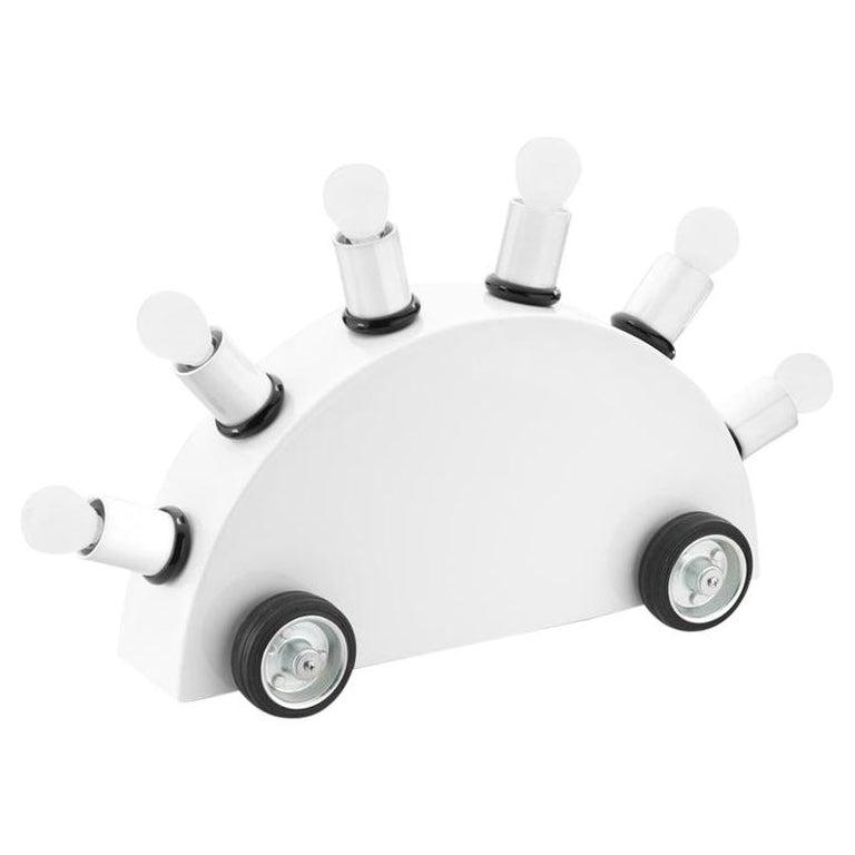 Martine Bedin White Super Table Lamp for Memphis Srl For Sale