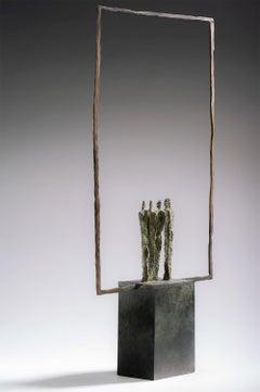 Landscape No.1 by Martine Demal - bronze sculpture, group of human figures