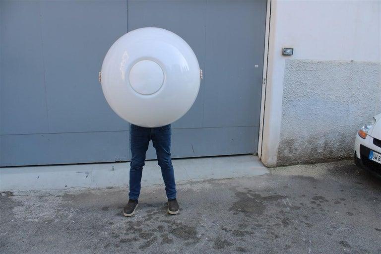 Martinelli Large convex Plexiglass Wall Lights Italian Design White, 1970s For Sale 6