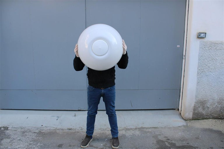 Martinelli Large convex Plexiglass Wall Lights Italian Design White, 1970s For Sale 7