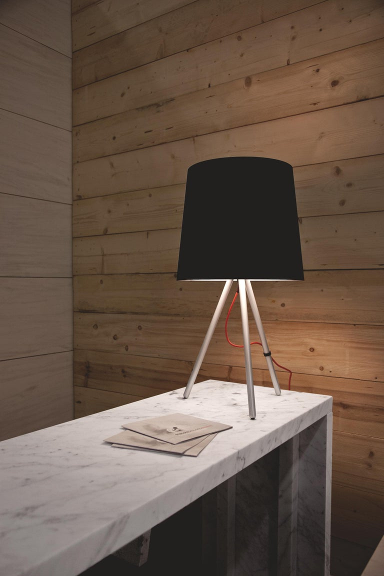 Modern Martinelli Large Eva 798 Table Lamp with Black Body by Emiliana Martinelli For Sale