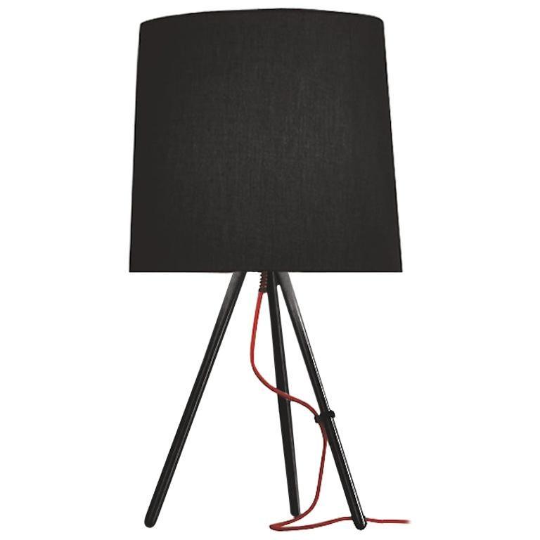 Martinelli Large Eva 798 Table Lamp with Black Body by Emiliana Martinelli