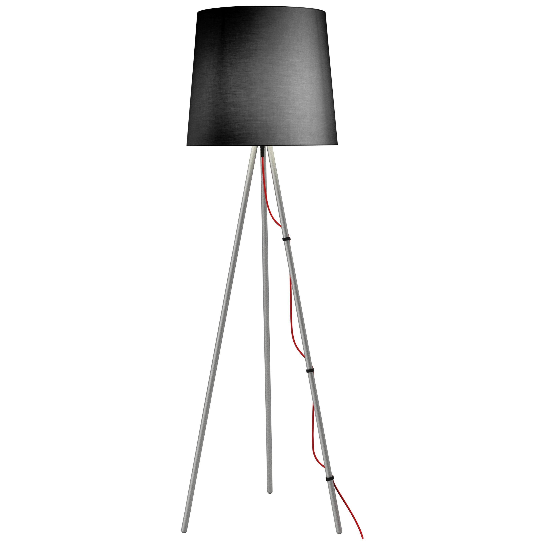Martinelli Luce Eva 2270 Floor Lamp in Satin Aluminum Body