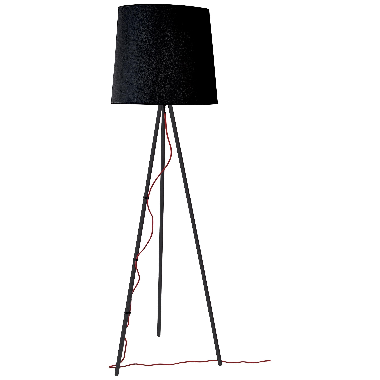 Martinelli Luce Eva 2270 Floor Lamp with Black Body by Emiliana Martinelli