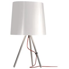 Martinelli Luce Eva 798 Large Table lamp with Satin Aluminum Body