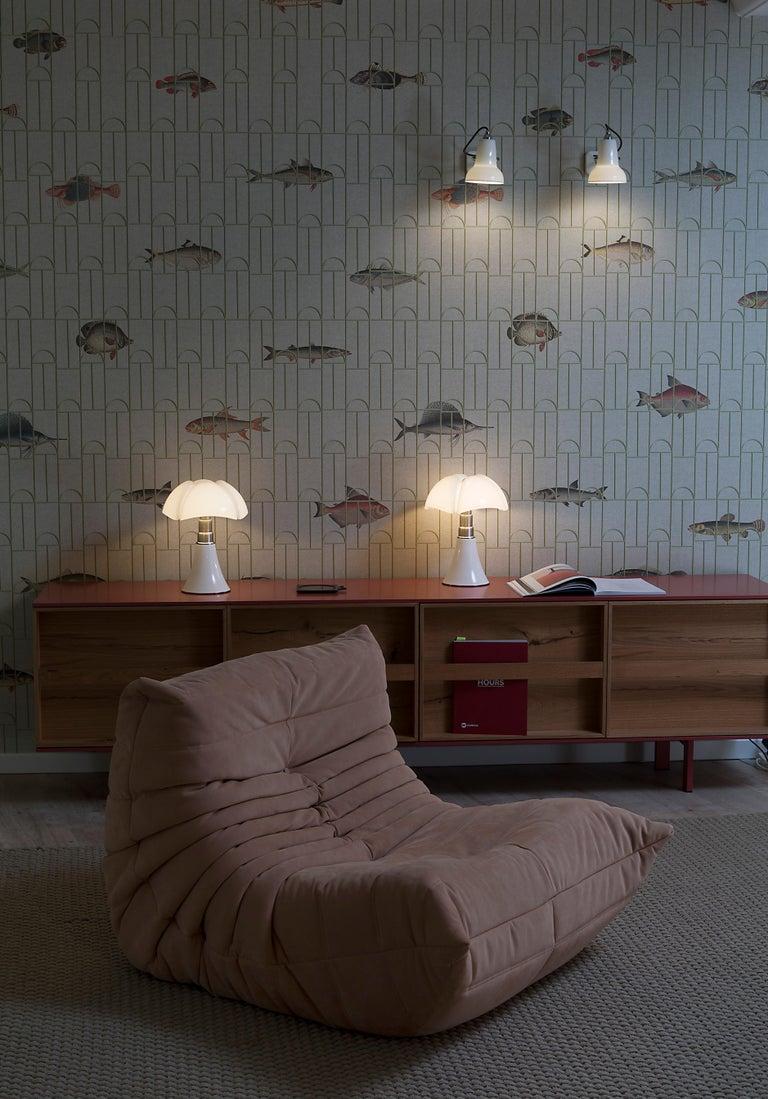 Martinelli Luce LED Minipipistrello 620/J Table Lamp by Gae Aulenti For Sale 5