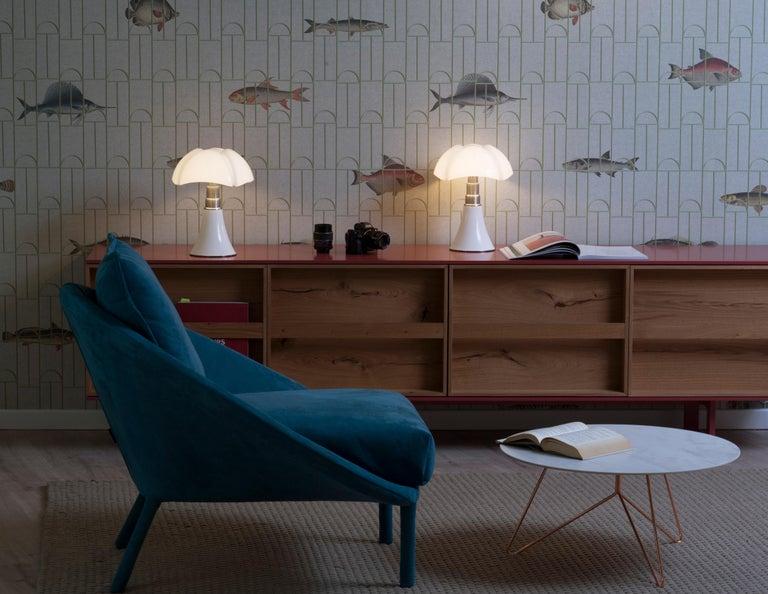 Martinelli Luce LED Minipipistrello 620/J Table Lamp by Gae Aulenti For Sale 6