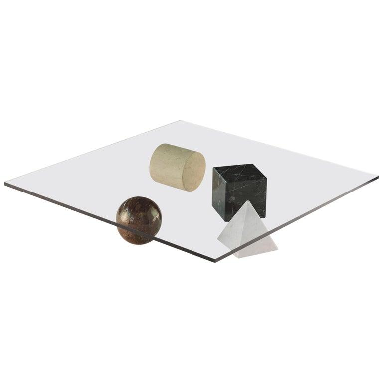 For Sale: Multi (Mix) Martinelli Luce Metafora 1979 Table by Lella and Massimo Vignelli