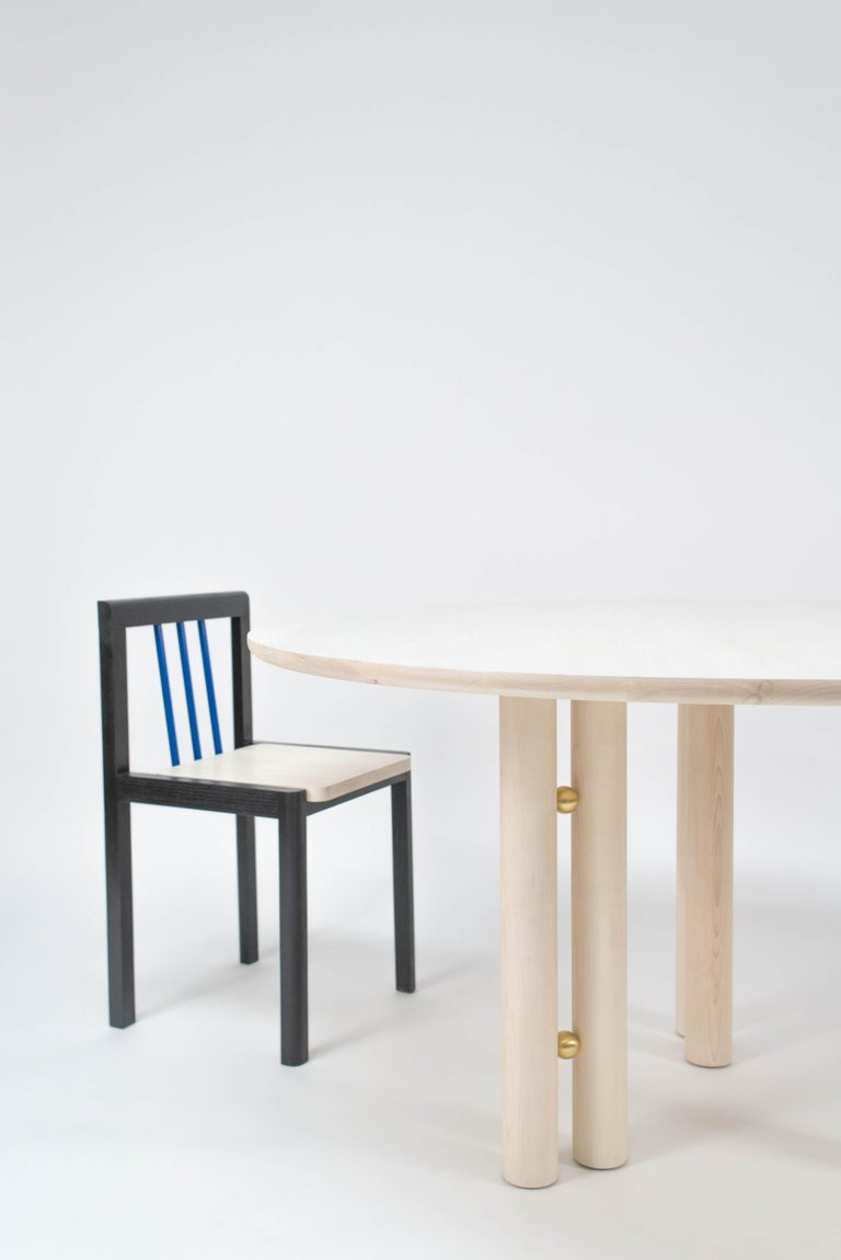 Post-Modern Martini Dining Table in Bleached Maple by Steven Bukowski For Sale