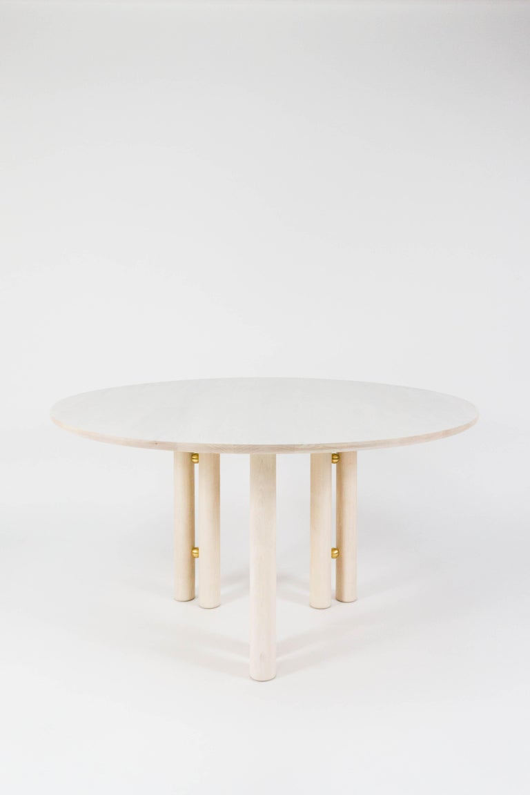 American Martini Dining Table in Bleached Maple by Steven Bukowski For Sale