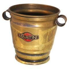 Martini Ice Bucket with Original Logo in Nickel-Plated Brass