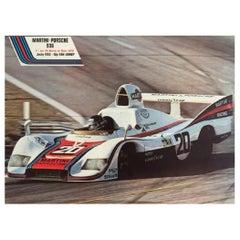 Martini Porsche 1976 Original Vintage Poster