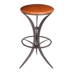 Martini Bar Stool in Steel and customized in Wood, Leather or Upholstered Seats