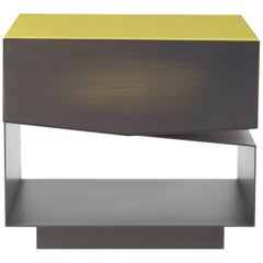 Martinica 1 Drawer Night Table in Wood by Roberto Cavalli Home Interiors