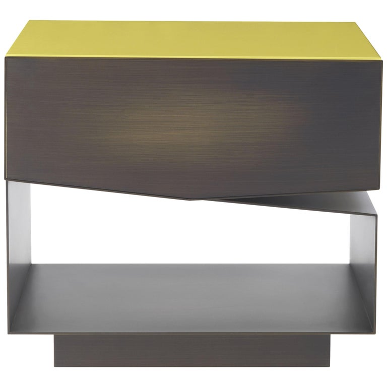 Martinica 1 Drawer Night Table in Wood by Roberto Cavalli For Sale