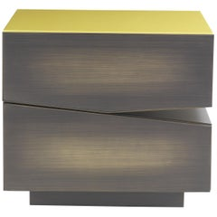 Martinica 2 Drawers Night Table in Wood by Roberto Cavalli Home Interiors