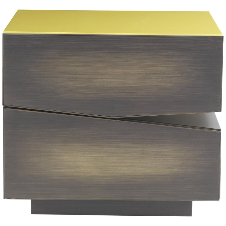 Martinica 2 Drawers Night Table in Wood by Roberto Cavalli For Sale