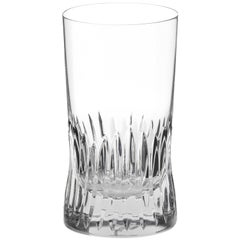 Martino Gamper Handmade Irish Crystal Large Tumbler Glass 'Cuttings' Series