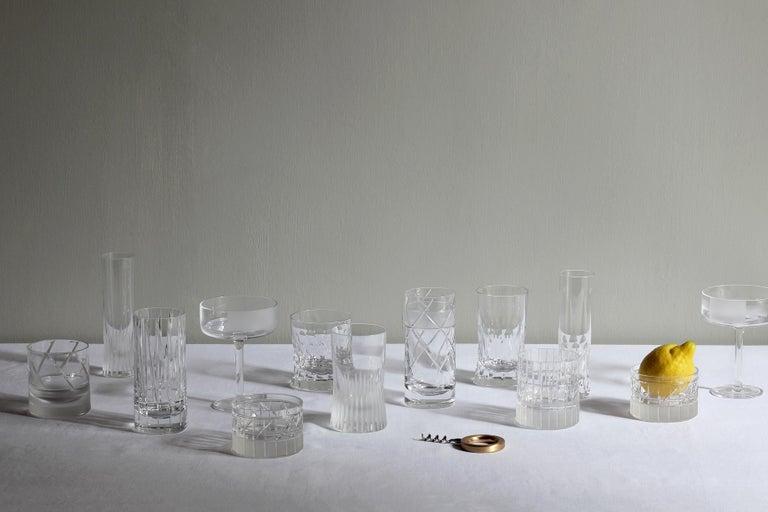 Martino Gamper Handmade Irish Crystal Shot Glass 'Cuttings' Series Set of 4 For Sale 4