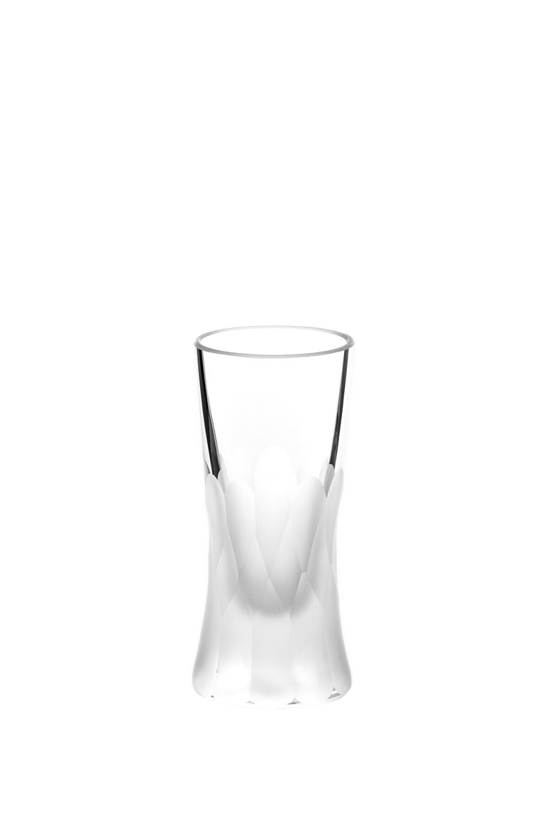 Martino Gamper Handmade Irish Crystal Shot Glass 'Cuttings' Series Set of 4 In New Condition For Sale In Ballyduff, IE