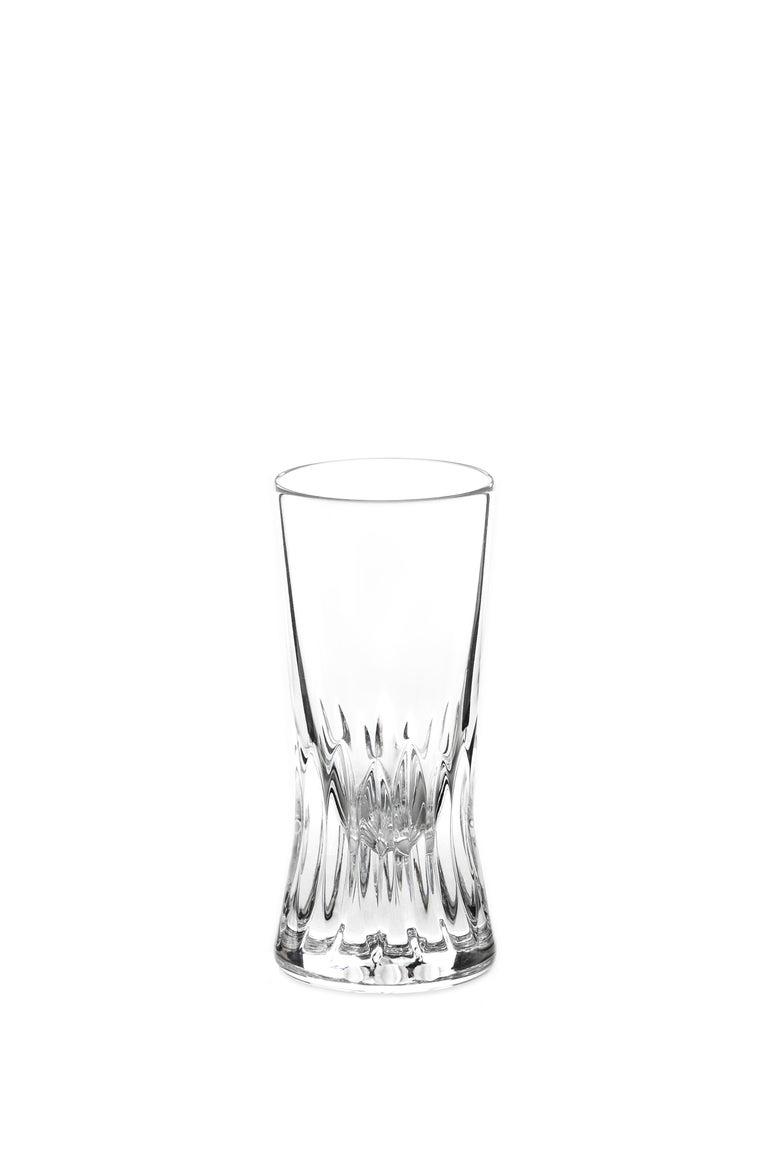 Contemporary Martino Gamper Handmade Irish Crystal Shot Glass 'Cuttings' Series Set of 4 For Sale
